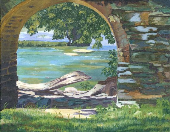 Wonderful landscape stone archway River Harper's Ferry by artbylmr, $160.00