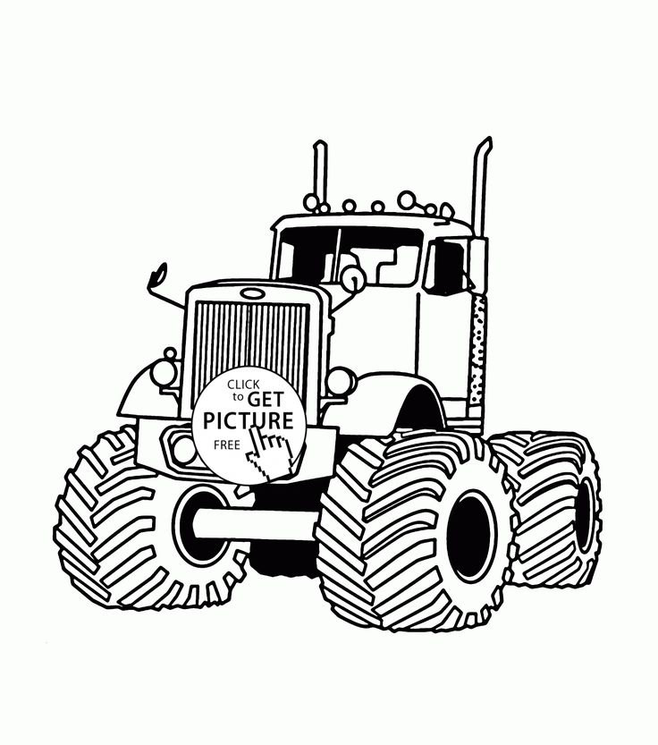 Monster Truck Very Large Coloring Page For Kids Transportation Pages Printables Free