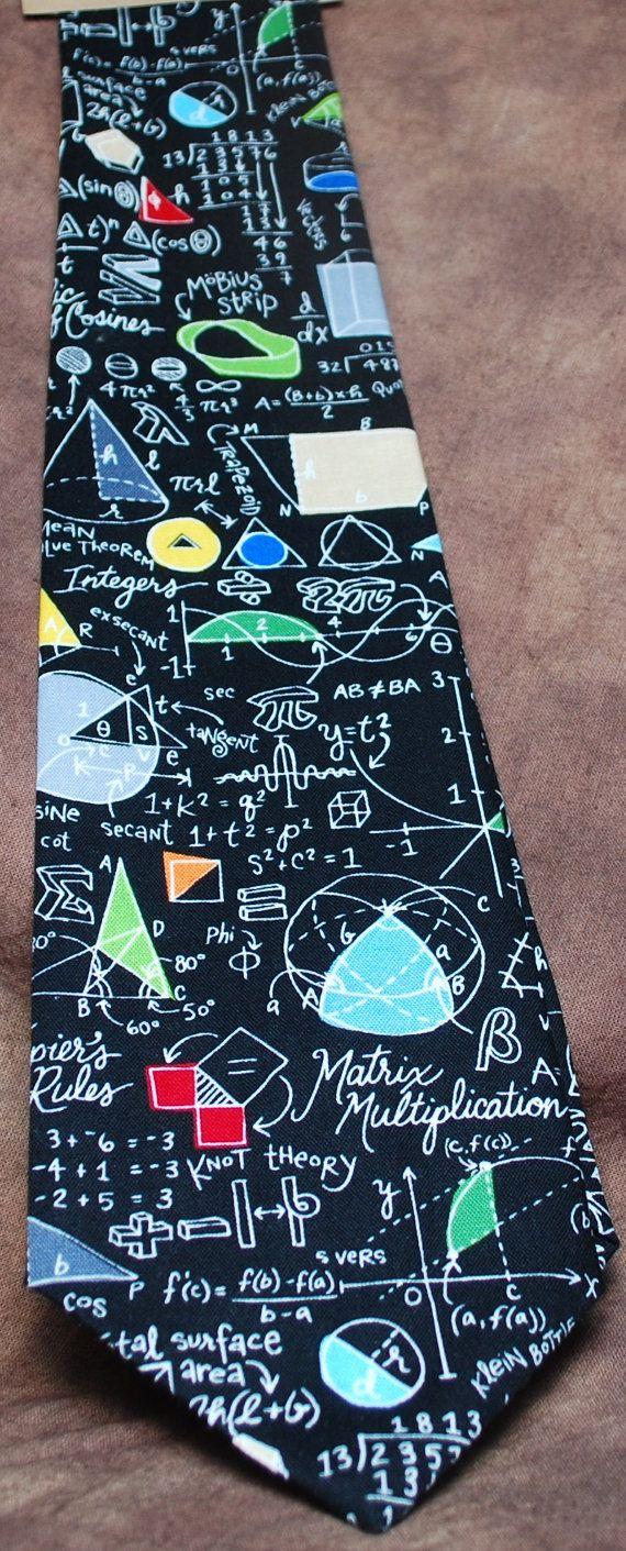 ALGEBRAIC neck tie by AbandonedWarehouse on Etsy