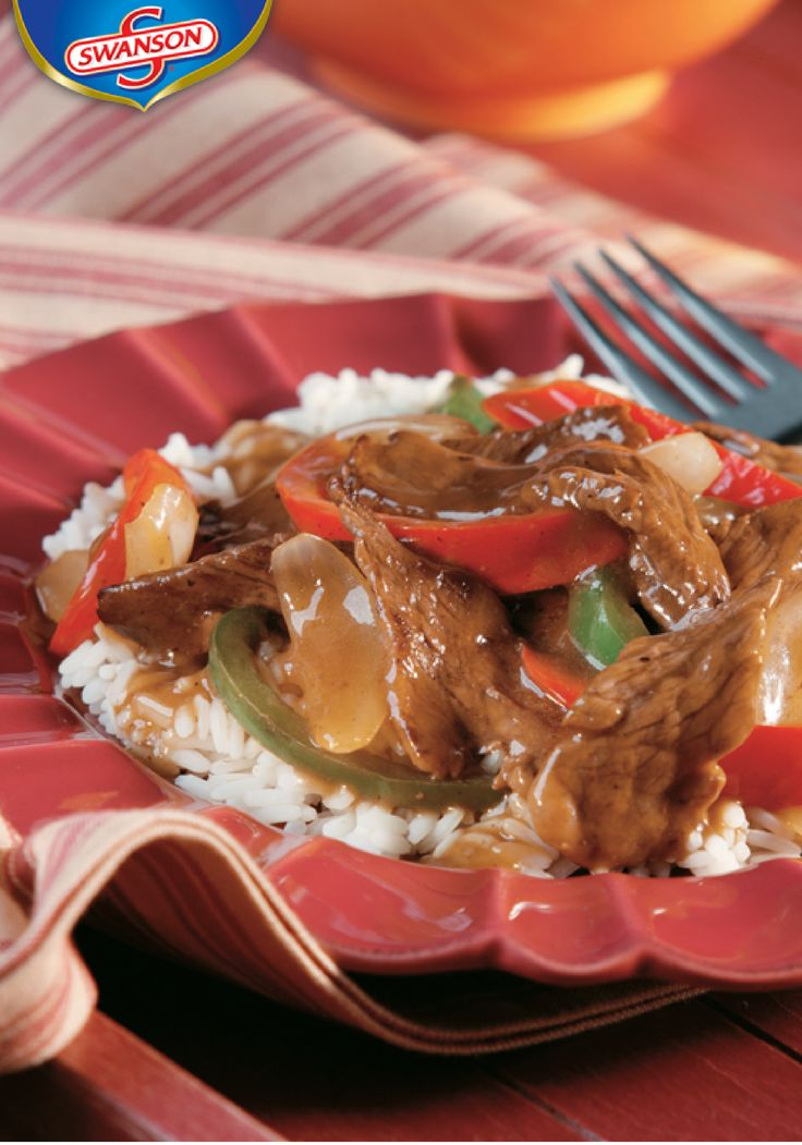 Beef broth is the ingredient that makes this tasty stir-fry so rich and flavorful. Take the flavor to another level by combining it with soy sauce and beef sirloin steak. Try this Easy Pepper Steak recipe tonight.
