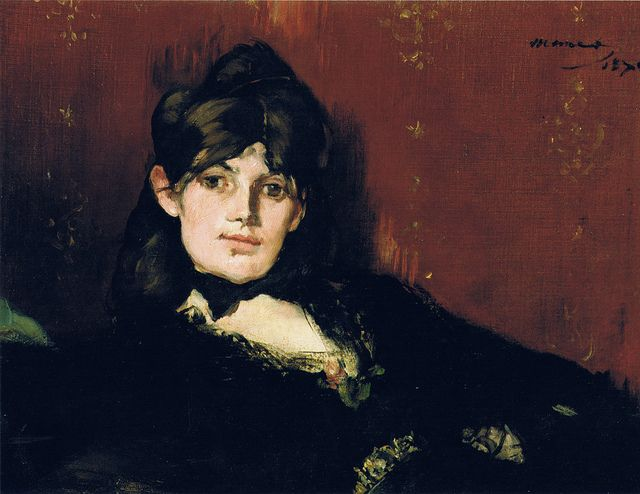 Eduoard Manet: Berthe Morisot reclining (1873) http://1.bp.blogspot.com/-yd9d0GO0tOs/UiJQ9s2YLwI/AAAAAAAACVk/RK3Y3u8qrNc/s1600/Manet_portraitofberthemorisot.jpg (Thx seulete)