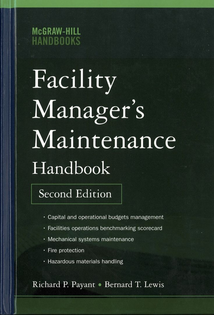 Plan, Design And Execute Operations And Maintenance Procedures With This  Handbook. #facility #
