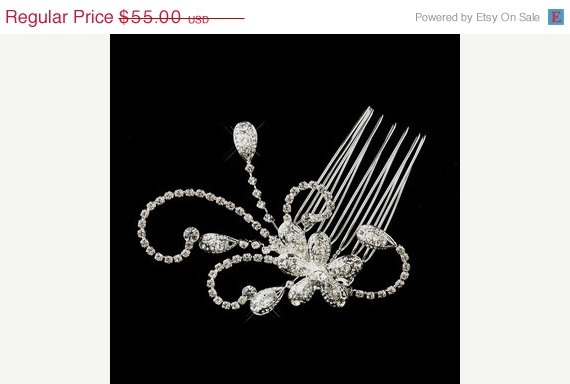 Bridal Hair Comb, Vintage Style, Crystal Hair Comb, Wedding Accessory