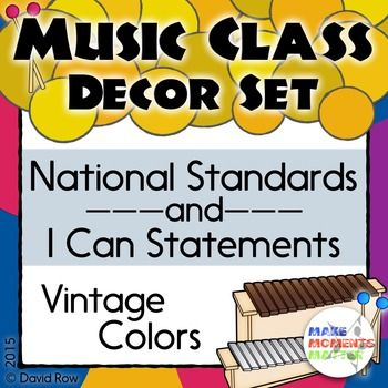 National Standards and I Can Statements - Vintage Color Scheme