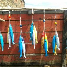 De jolies sardines en tissu pour décorer la maison...A installer partout!!