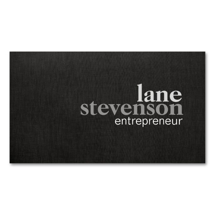 2263 best bold text business card templates images on pinterest simple modern bold font linen look black business card template this great business card design is available for customization all text style colors reheart Image collections
