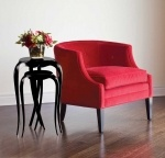 Adding a touch of red adds drama and warmth