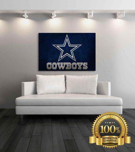 Dallas Cowboys Canvas Dallas Cowboys Vintage by SportsDecorPrints