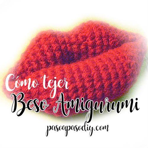 Cómo tejer un almohadón con forma de labios a crochet