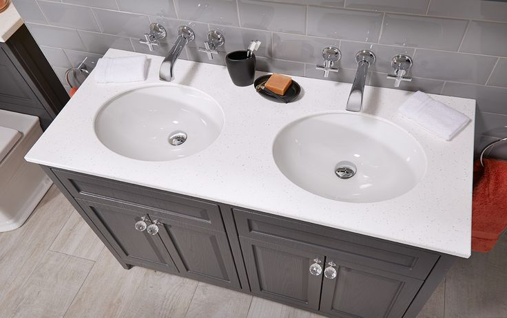Twin undermounted basins for a truly luxurious bathroom #downton #downtonclassical #bathroomfurniture #myutopia