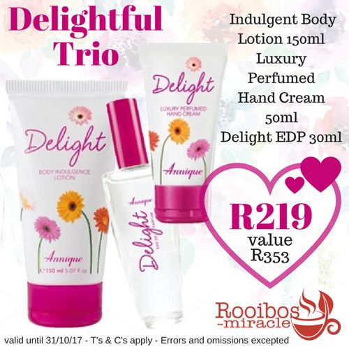 DELIGHT Body Lotion, Hand Cream & 30ml Fragrance | Annique#annique #rooibosmiracle #octoberspecials