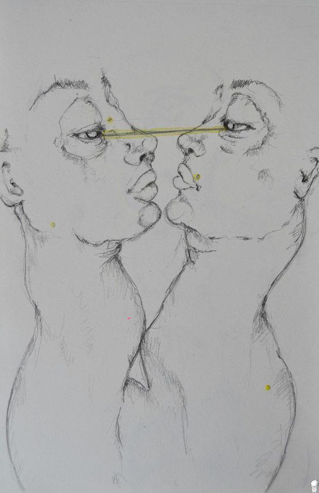 """~ Ombre. """"Le due ombre si scrutavano in silenzio. Cercavano di leggersi l'una dentro l'altra. Si erano improvvisamente trovate sole, con un senso di vuoto allo stomaco, con il risentimento che si prova quando si scopre di essere stati traditi.""""  ▶Schizzo. ▶Acquarello su carta.  °ArtBook. #Art #Passion #Life #ArtEli"""