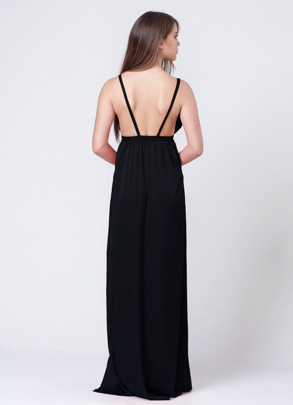 Long Maxi Black Prom Dress, Evening Sexy Party Dress- Perfect fashionable dress for Prom, Evening events, and for bridesmaids  Do you feel clueless about what to wear for prom night? Are you looking for the perfect evening outfit?  A stunning dress is certainly the first task in the long prom planning listing of every teenage girl.  How to find the perfect most flattering dress that will be comfortable and affordable, but equally important will make you stand out & wow the crowds? That do...
