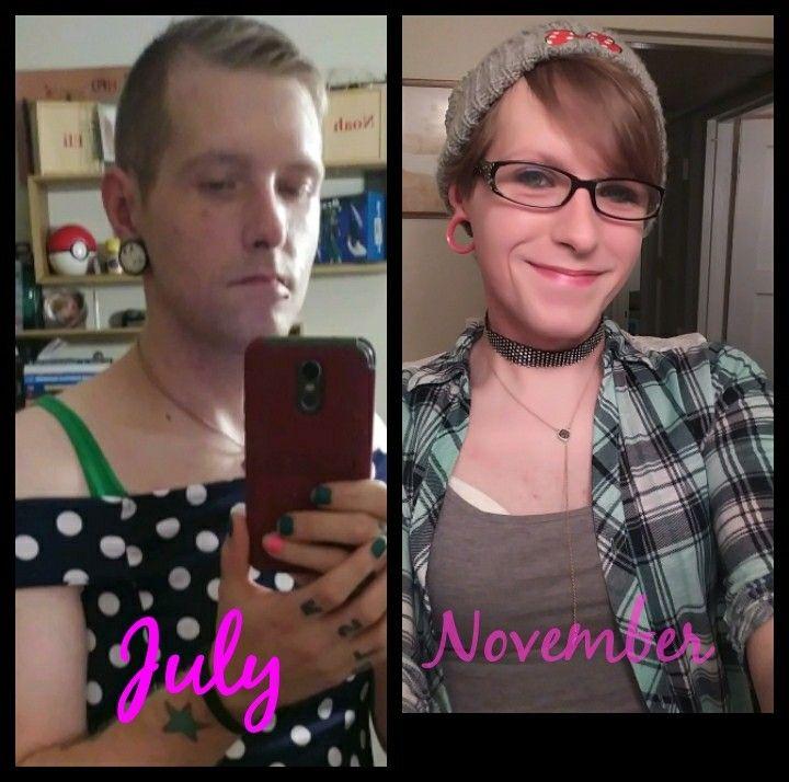 4 months hrt #hrt #transwoman #mtf #transgender #maletofemale #tgirl
