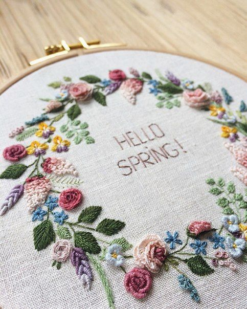 Nadya Sinkevich's photosflower embroidery hello spring!