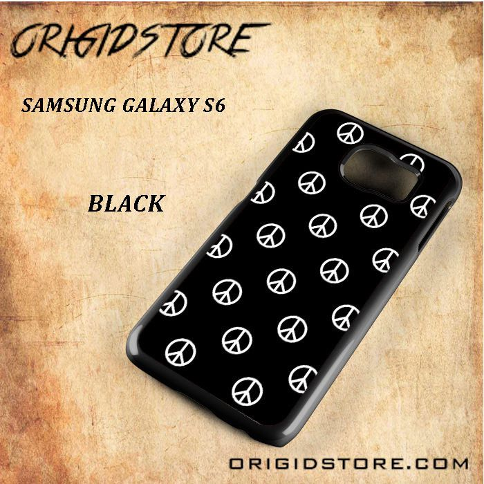 Mark Peace Pattern Black White Snap On Or 3D For Samsung Galaxy S6