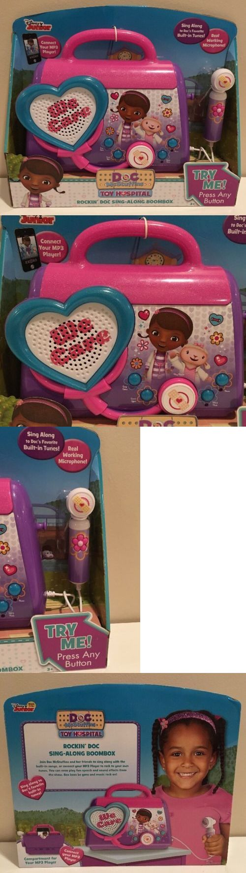 Radios Musical Toys 145943: Disney Junior Doc Mcstuffins Rockin Doc Sing Along Boom Box With Microphone New -> BUY IT NOW ONLY: $35.99 on eBay!