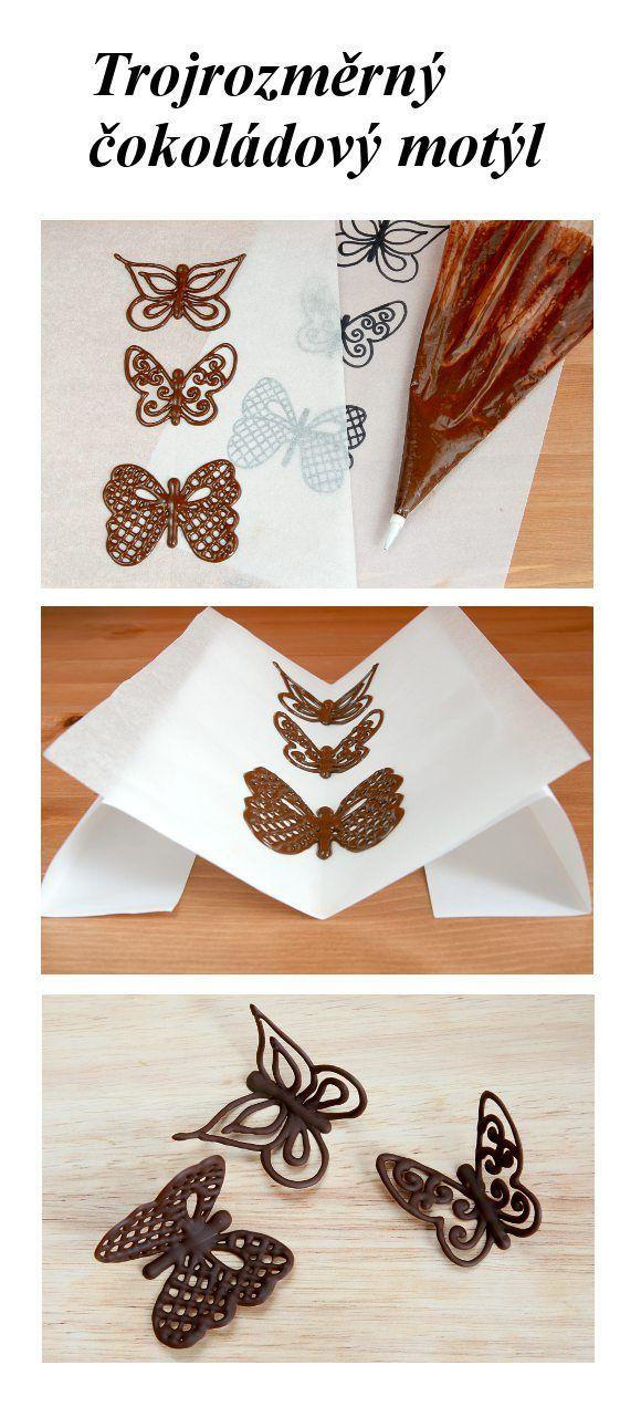Vyrobte si pro ozdobení vašeho dortu nebo dezertu trojrozměrného čokoládového…