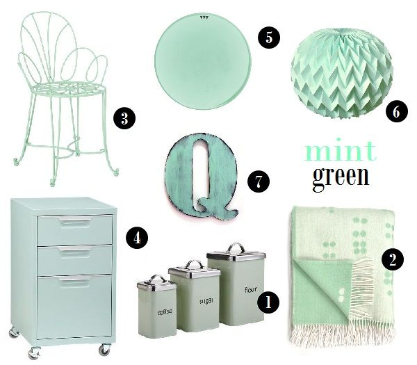 16 best black and white home decor images on pinterest for Mint green home accessories