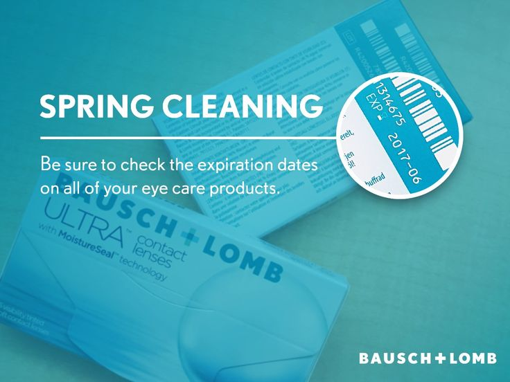 Bausch+LombUK (@BauschLombUK) on Twitter Be sure to check the expiration dates of contact lenses and solutions