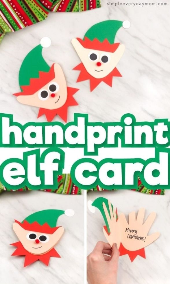 Printable Christmas Cards Digital Download Merry Christmas Etsy In 2020 Christmas Handprint Crafts Handprint Christmas Christmas Cards Kids
