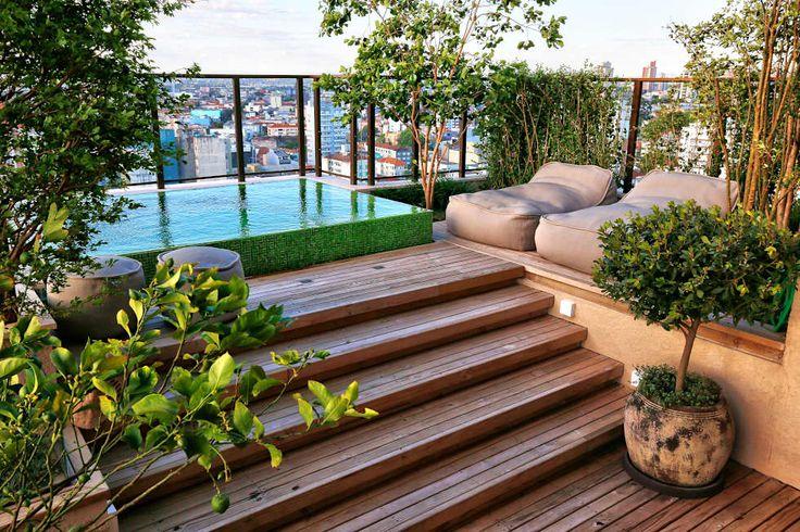 Terrazas de estilo por Tellini Vontobel Arquitetura