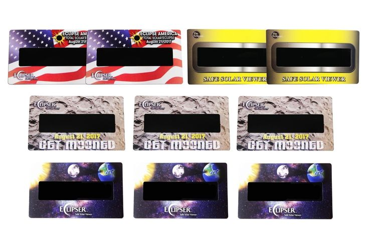 Eclipse Hand Held Viewers - CE Certified Safe Solar Eclipse Glasses - 10pk Assorted- Eye Protection- View the 2017 Eclipse Safely