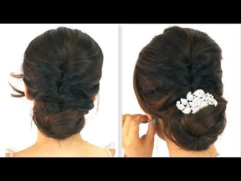 ★ 5MIN EASIEST PARTY UPDO | EVERYDAY BRAIDED BUN PROM HAIRSTYLES FOR MEDIUM LONG HAIR TUTORIAL