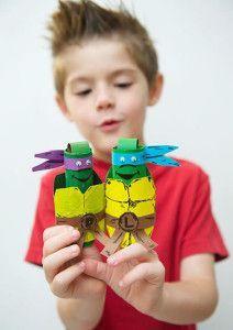 Artesanato com rolinhos de papelão para o Dia das Crianças