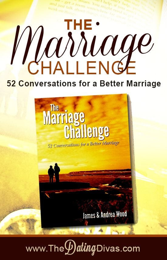 One hour, once a week for a year = a better marriage. The Marriage Challenge - 52 Conversations for a Better Marriage. . www.TheDatingDiva... #marriagebook #marriagehelp #conversationsforcouples