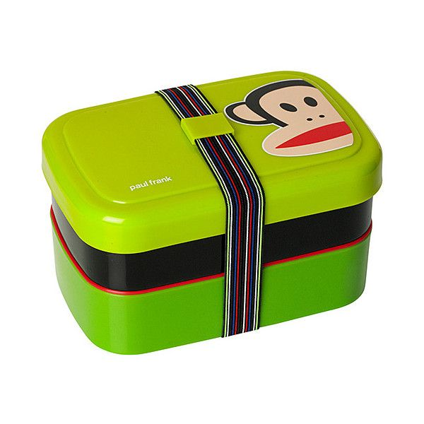 Paul Frank Green Paul Frank Picnic Lunch Box ($8.99) ❤ liked on Polyvore featuring home, kitchen & dining, food storage containers, lunch box, lunch pail, sandwich lunch box, green box and sandwich boxes