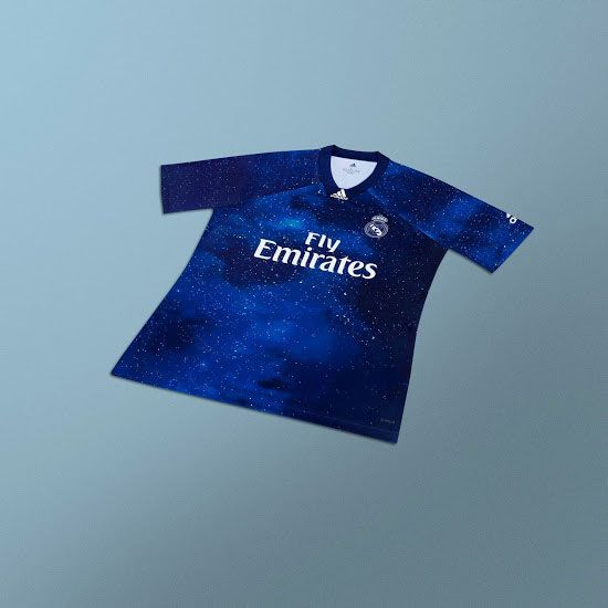 f8ba8b5490020 18-19 Real Madrid EA Sports Blue Jersey Shirt