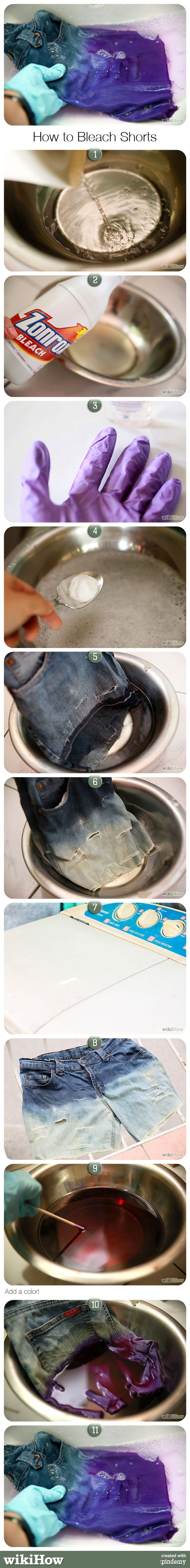 How to Bleach Shorts
