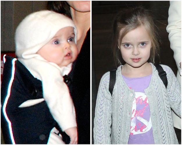 Vivienne Marcheline Jolie-Pitt, Vivienne at 6. Born in Nice, France on 12 July 2008. Credit: Splash, Getty Images