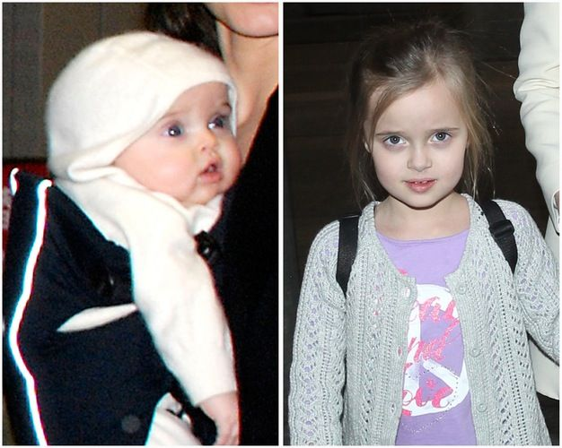 Vivienne Marcheline Jolie-Pitt, Vivienne at 6.    Born in Nice, France on 12 July 2008. Credit:  Splash, Getty Images