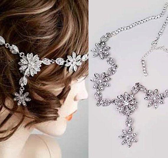 Rhinestone Headband Wedding Bridal Head by SukranKirtisJewelry