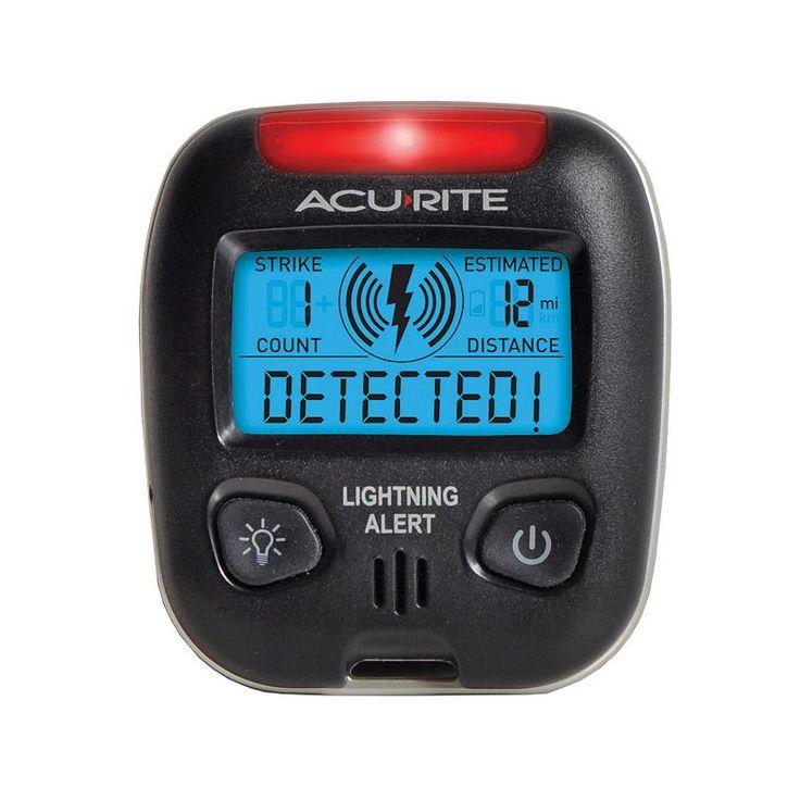 AcuRite Digital Portable Lightning Detector, Multicolor