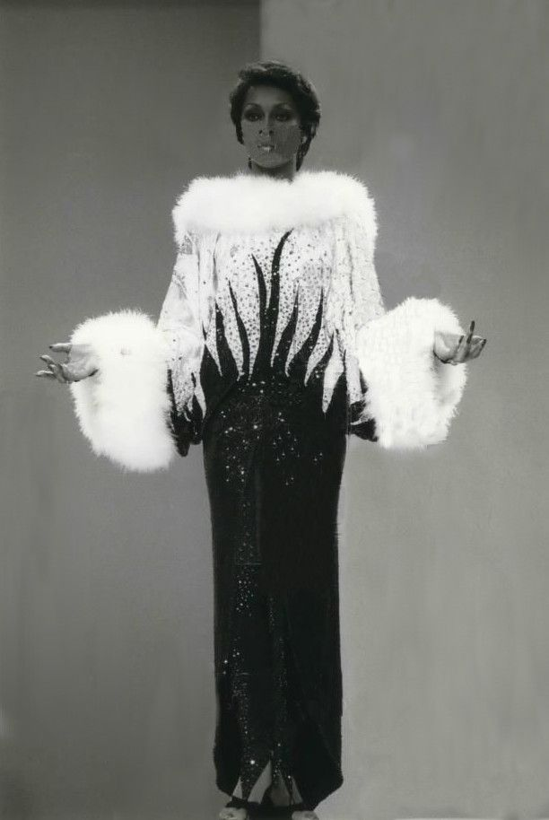 Lola Falana in Bob Mackie stage costume Black Women: The Original Beauty Standard @www.joneshousepublishing.com