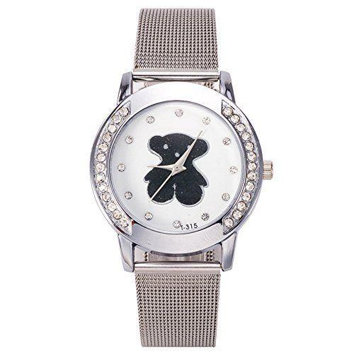 mujeres marca reloj tous seora de la manera de la trenza de la correa de malla