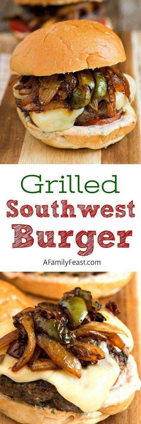 Grilled Southwest Burger   grilling   hamburger   grass-fed beef