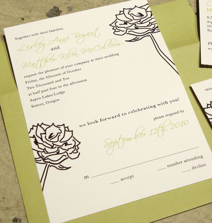 Wedding Invitations With Rsvp Included There