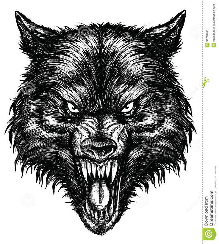 angry wolf drawing - Google zoeken