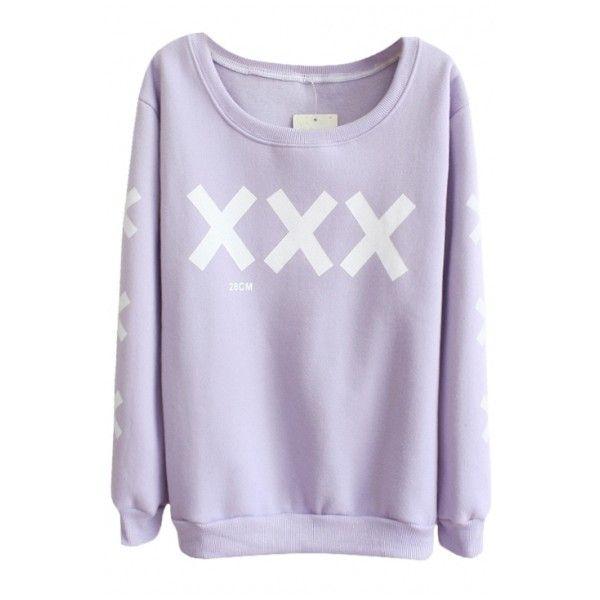 pastel goth shirt ($16) ❤ liked on Polyvore featuring tops, hoodies, sweatshirts, shirts, sweaters, sweatshirt, goth shirts, gothic tops, pastel sweatshirt and purple sweatshirt
