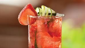 Image result for strawberry cocktail garnish