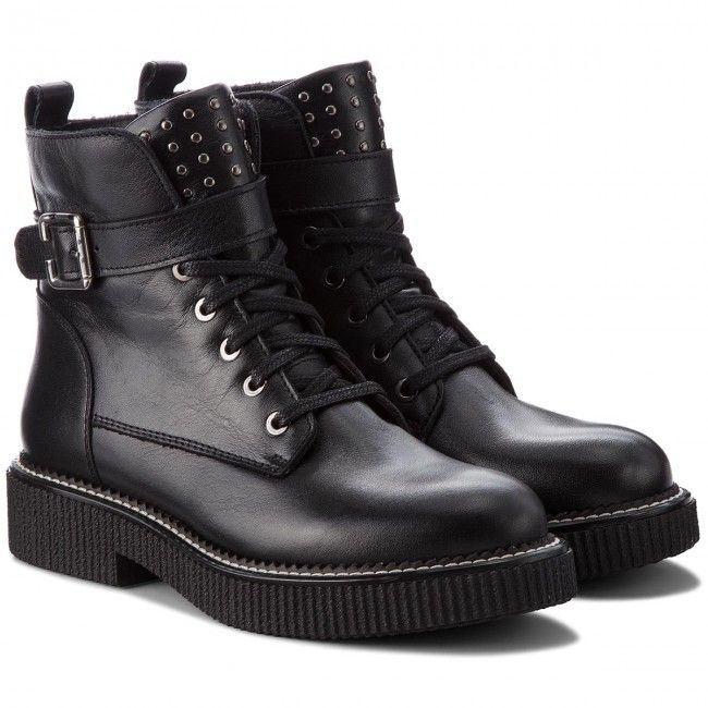 Botki Nessi 18457 Czarny 1 Boots Combat Boots Shoes