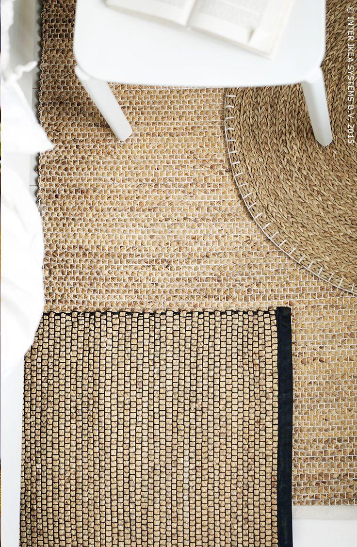 Vloermatten van waterhyacint en zeegras. Duurzame, hernieuwbare materialen. NIPPRIG 2015 vloerkleed #IKEA #NIPPRIG