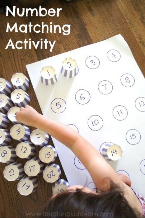 Handmade Number Matching Activity Game - 22 Handmade Learning Games & Toys for Kids - Big DIY IDeas