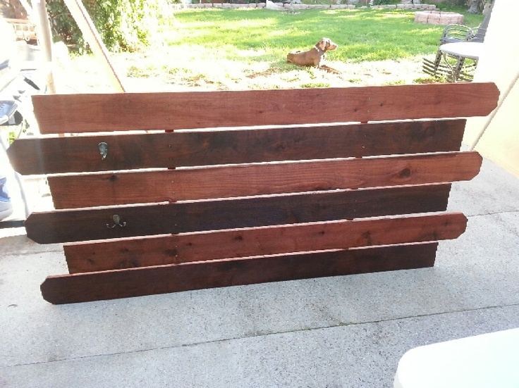 Headboards Made From Fence Panels