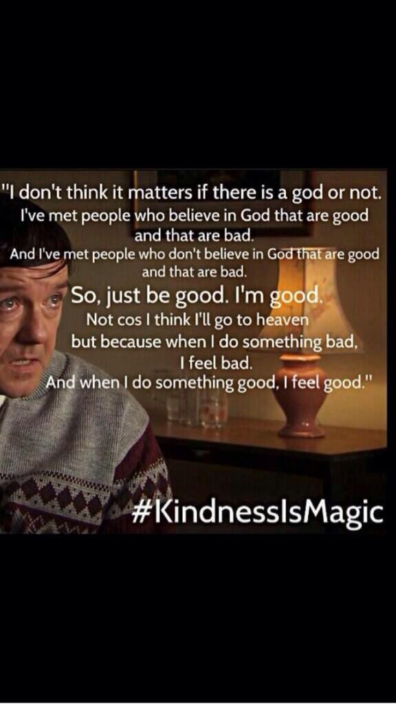Ricky Gervais #kindnessismagic
