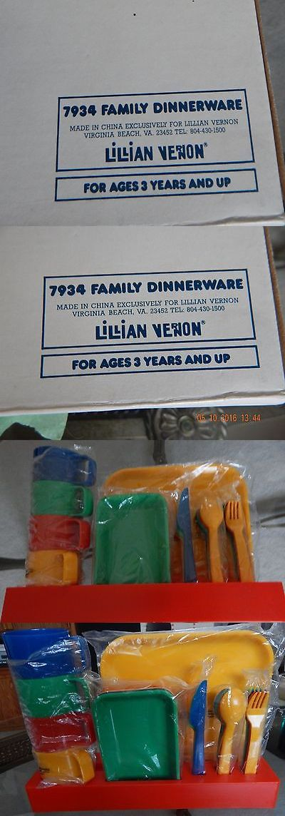 Dishes Tea Sets 19171: Colletible: Family Dinnerware (7934) By Lillian Vernon -> BUY IT NOW ONLY: $55 on eBay!